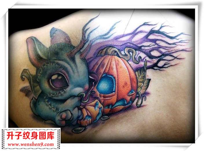 欧美兔子纹身图案 new school 图片