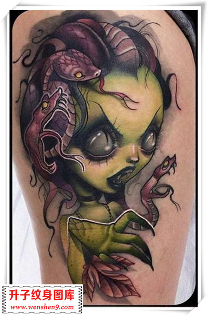 凶恶美杜莎的娃娃纹身