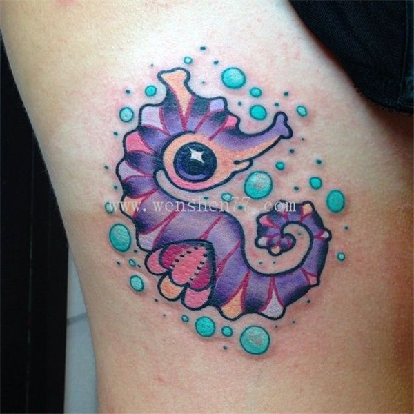 海马纹身图案 重庆海马纹身图片